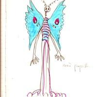 mère papillon, dessin