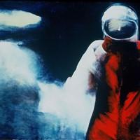 """sur toile n°3, """"le cosmonaute"""", 130x97cm, 1984"""