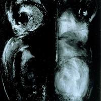 bonne femme, encre et huile sur papier, 45x65 cm,1989