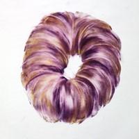 pastel violet sur calque n°7, 29 x 39 cm, 2010.