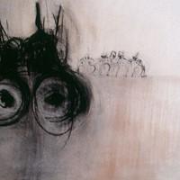 bonnes femmes, dessin n°1, fusain, crayon, sanguine, 77x60cm, 1991