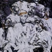 acrylique sur toile n°1, l'hôpital, 130x97cm, 1976