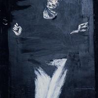acrylique sur bois, Catherine, 72x94cm, 1977