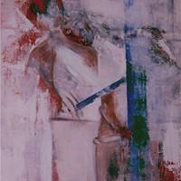 acrylique n°3, couple, 130x97cm, 1978