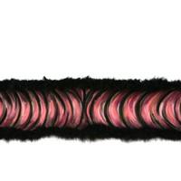 La chose, détail 2, pastl sur papier velours et plumes de cygne, 560cm, 2013.