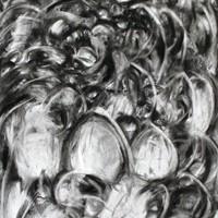 Pastel noir, 115x72cm, 2003
