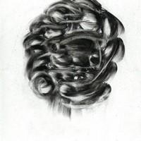 pastel noir sur papier Canson, 22 x 15 cm, 2005, 2.
