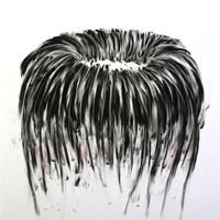 Pastel noir sur papier,  50cm x 64cm, 2009