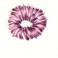 Pastel rose sur calque, 15cm x 10cm 2009
