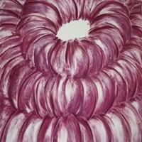 Choeur 5, pastel rose sur calque, 66 x 50 cm, 2011