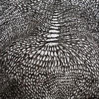 Pastel noir sur papier canson, 160cm x 150cm collection  Alexandros Economakis, Athènes